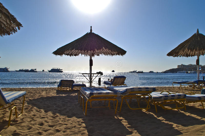 Sharm el sheikh in egypt. Beach holiday at sharm el sheikh in egypt stock photography