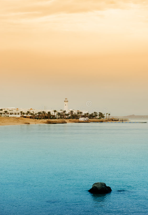 Sharm el sheikh, egypt. Beautiful beach and ocean in sharm el sheikh, egypt royalty free stock photo
