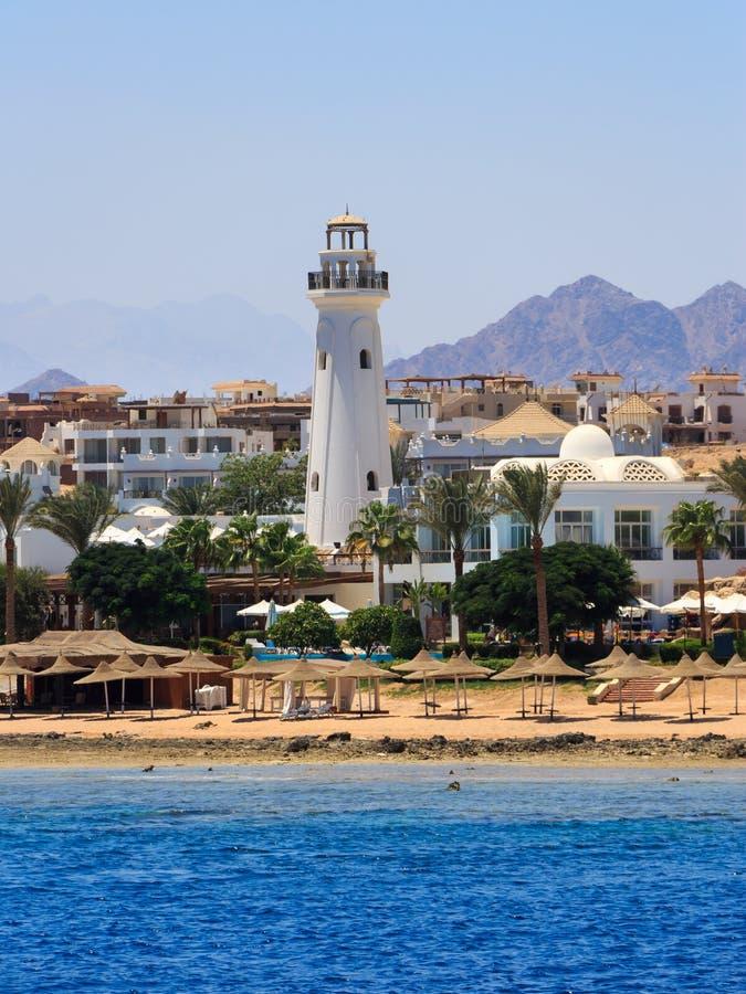 Sharm El Sheikh Egypt. Coast of Sharm El Sheikh Egypt as seen from the sea royalty free stock photos
