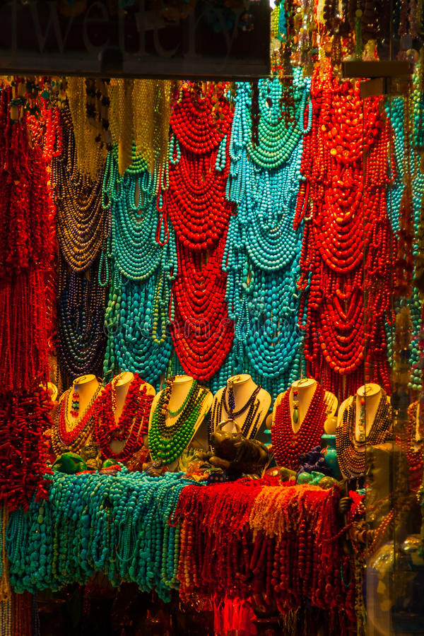 SHARM EL SHEIKH, EGYPT - JULY 9, 2009.Various arabic antique objects displayed in an old shop in the bazaar stock image