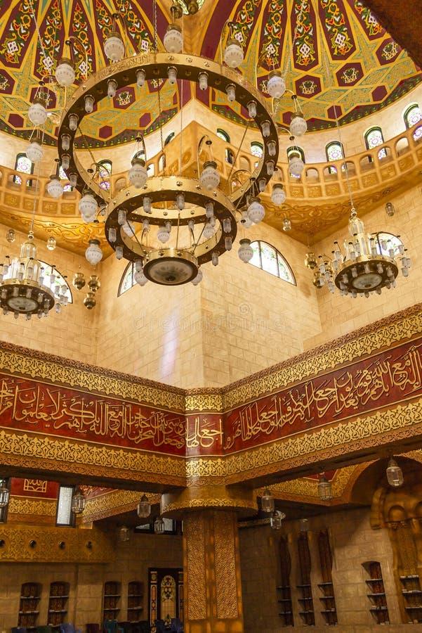 SHARM-EL-SHEIKH, EGYPT - OCTOBER 16, 2018 Interior of Sahaba mos stock photography