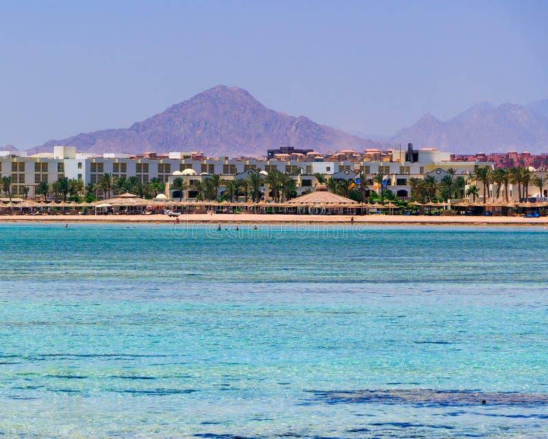 Sharm El Sheikh Egypt. Red Sea coastline at Sharm El Sheikh Egypt stock images