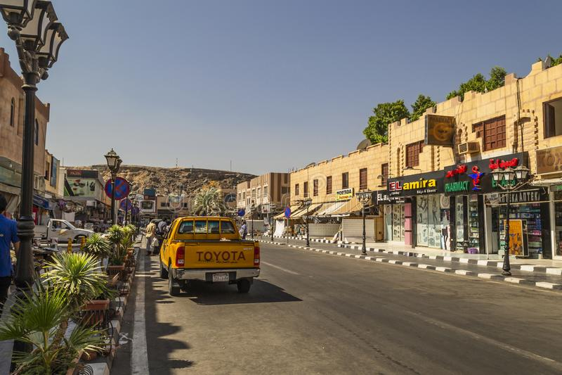 Sharm El Sheikh, Egypt. View of Old Town market royalty free stock image