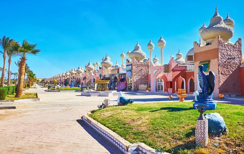 Attractions in Sharm El Sheikh, Egypt. Sharm El Sheikh is the most popular resort of Sinai peninsula, it offers Eastern colorith and European comfort, Egypt royalty free stock images