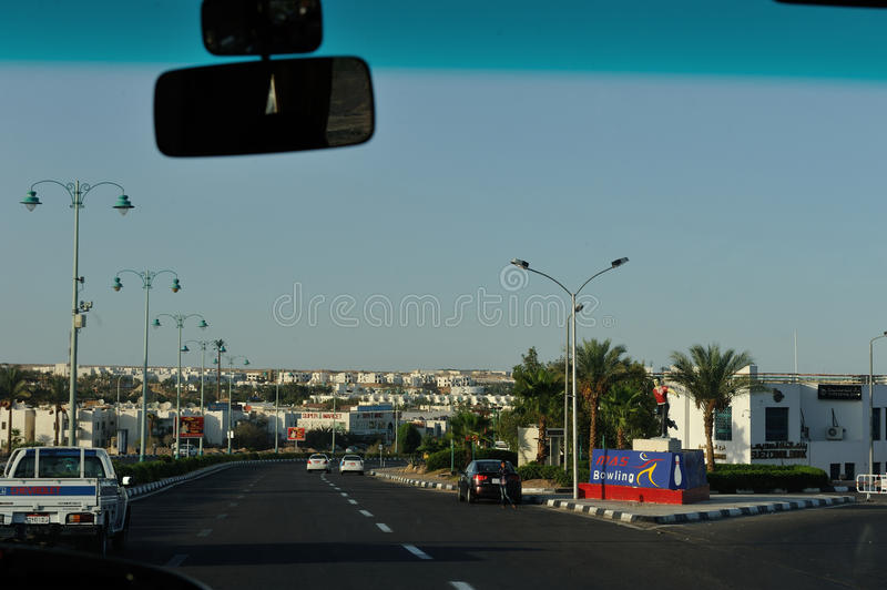 Sharm-El-Sheikh street. stock photo
