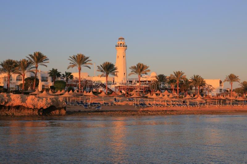 Sharm el-Sheikh at sunset stock photos