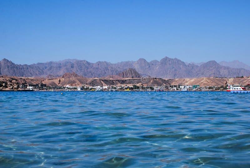 Sharm el Sheikhsemesterortstrand arkivfoton