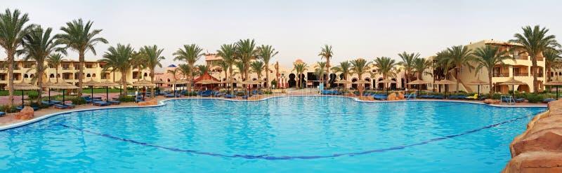 Sharm resort. Holiday resort in Sharm el Sheikh panoramic royalty free stock photography