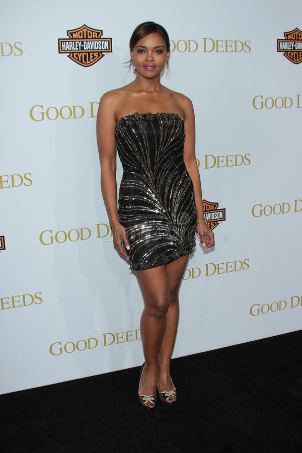 Sharon Leal. At Tyler Perry's Good Deeds Los Angeles Premiere, Regal Cinemas, Los Angeles, CA 02-14-12 royalty free stock photography