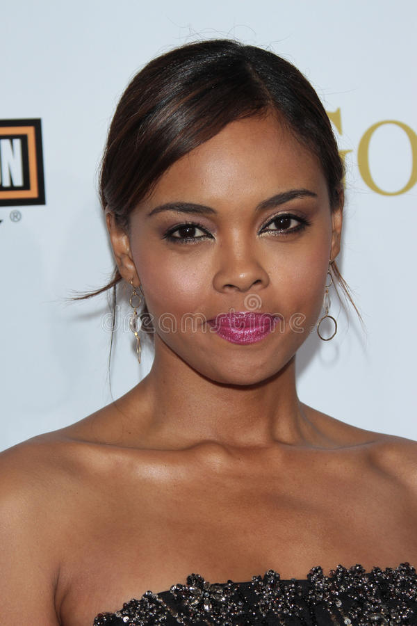 Sharon Leal. At Tyler Perry's Good Deeds Los Angeles Premiere, Regal Cinemas, Los Angeles, CA 02-14-12 stock photo