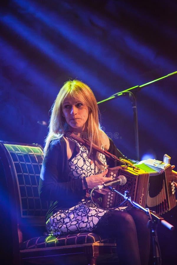 Sharon Shannon and band. At Folkfest,Killarney at the INEC,Killarney,Ireland on 26th July 2015 royalty free stock photo