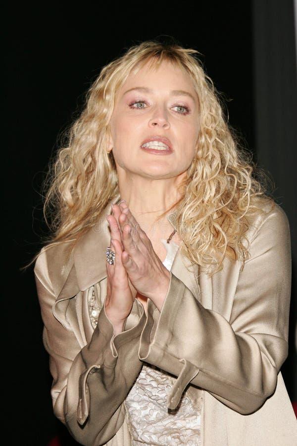 Download Sharon Stone redaktionell arkivbild. Bild av orkan, meddelar - 37346772