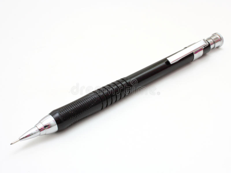 Sharp Black Mechanical Pencil Stock Photos