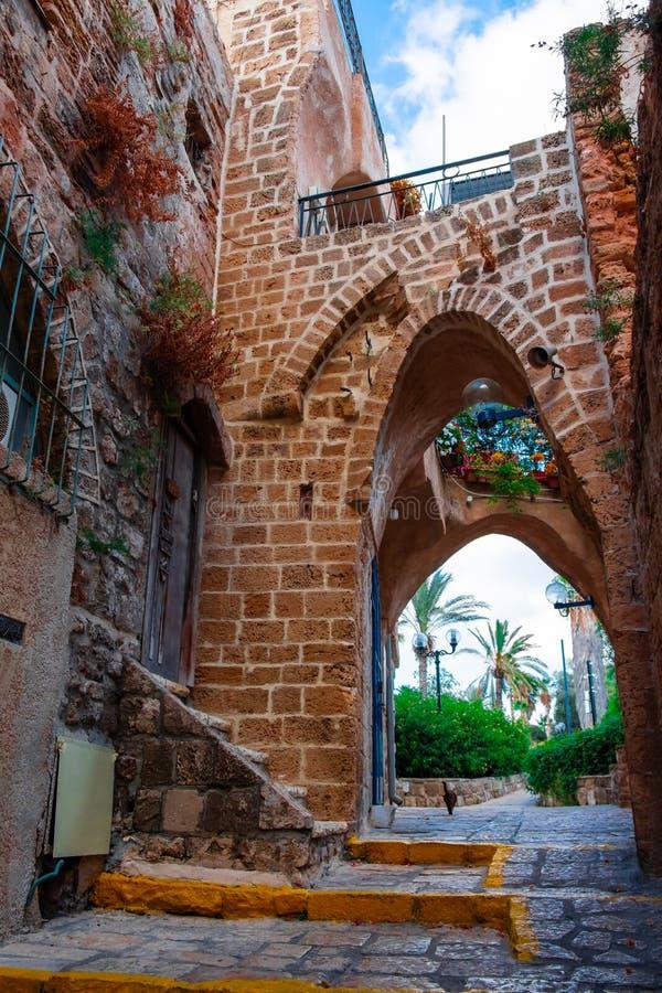 Details of Old Jaffa streets in Tel-Aviv, Israel stock photo