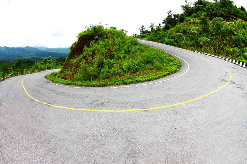 Download Sharp curve of road stock image. Image of paradise, concept - 15758167