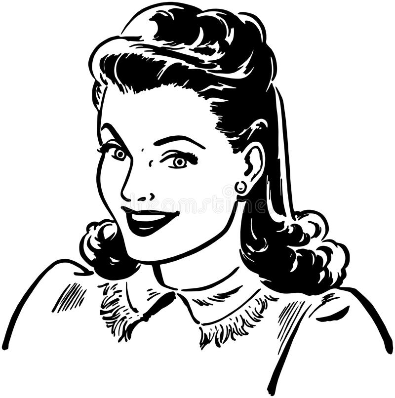 Sharp Gal stock illustration