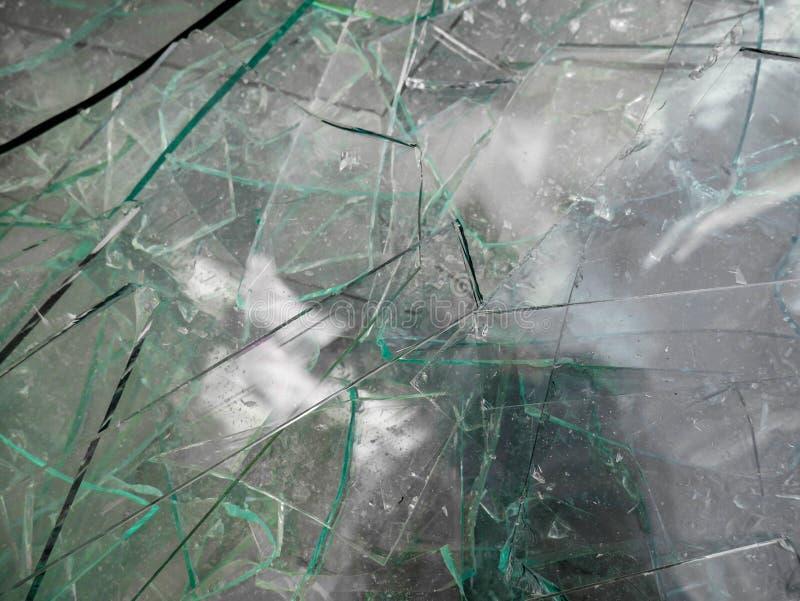 Sharp glass waste close up shot stock photography