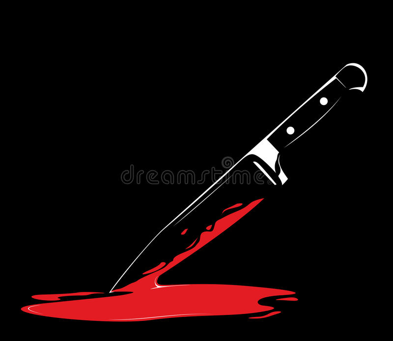 Download Sharp Knife On Black Background Royalty Free Stock Photos - Image: 13401348