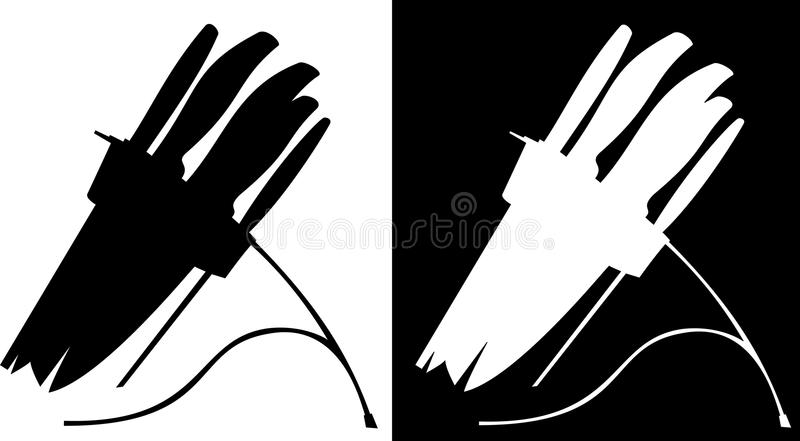 Download Sharp Knife Black And White Background Stock Vector - Illustration: 13489720
