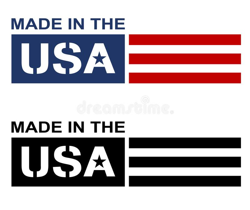 Made in the USA Label Logo Isolated Vector Illustration royalty free stock photo