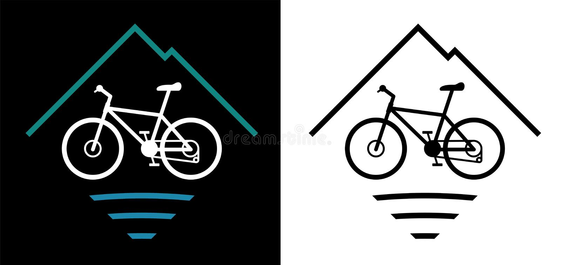 Outdoor Mountain Bike Logo Vector Illustration royalty free stock image