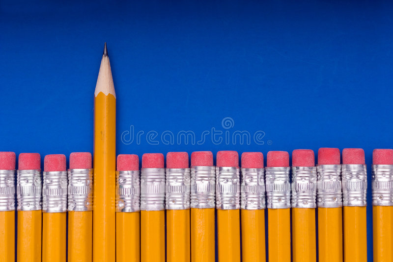 Download The Sharp One - on blue stock image. Image of point, sharpened - 4441549