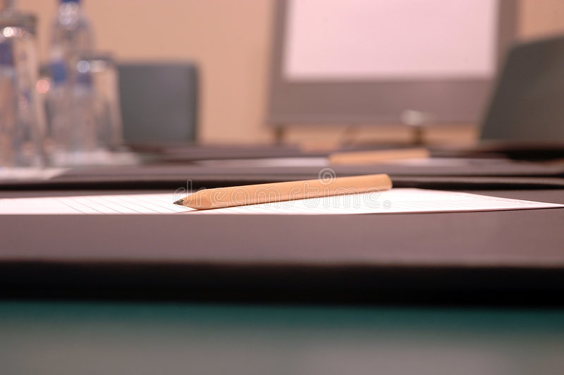 Sharp Pencil And Paper Royalty Free Stock Photo
