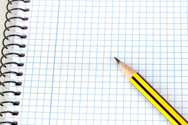 Download Sharp Pencil On A Spiral Notebook Stock Image - Image: 14943083