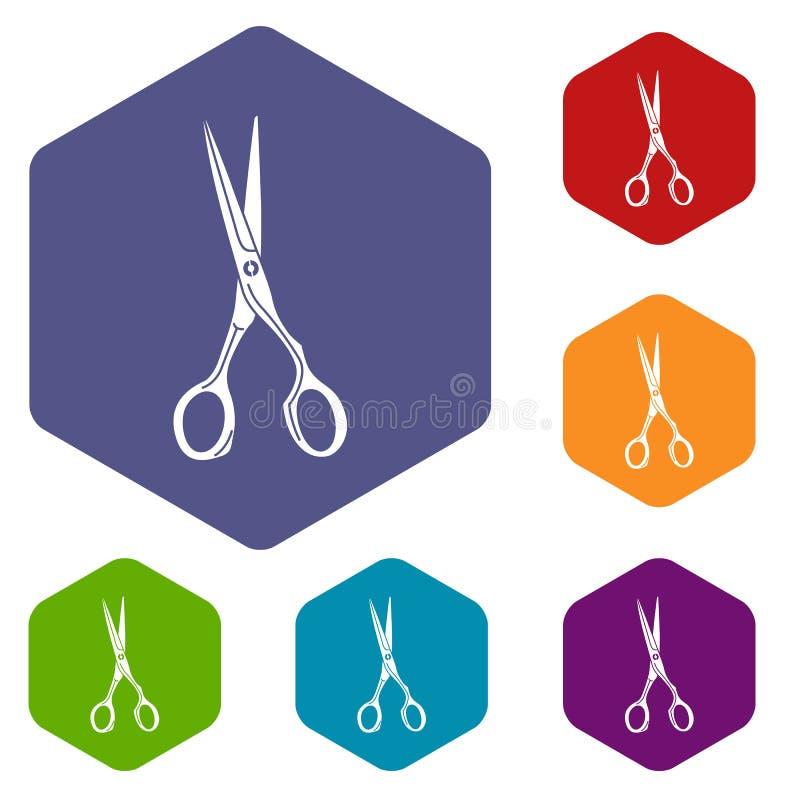 Sharp scissors icon, simple style stock illustration