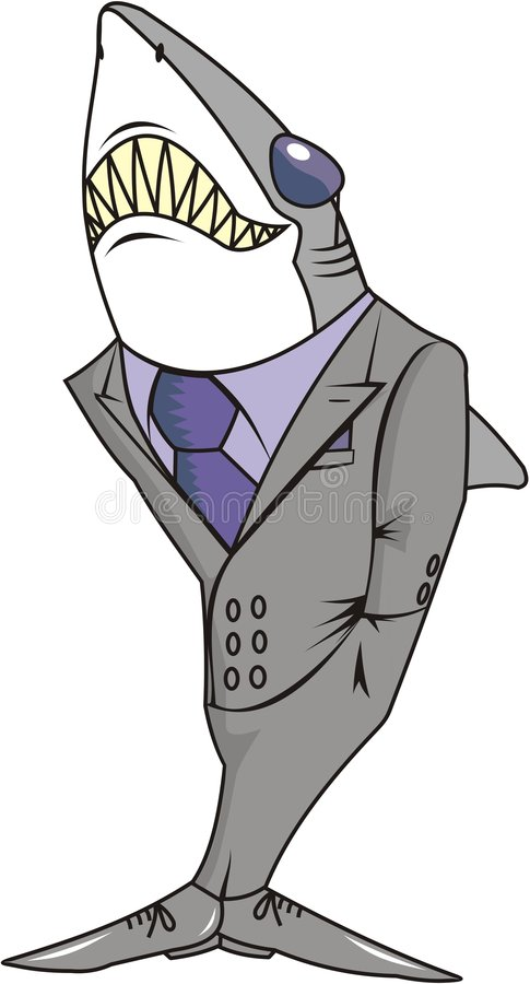 Sharp Shark In A Suit Royalty Free Stock Photos