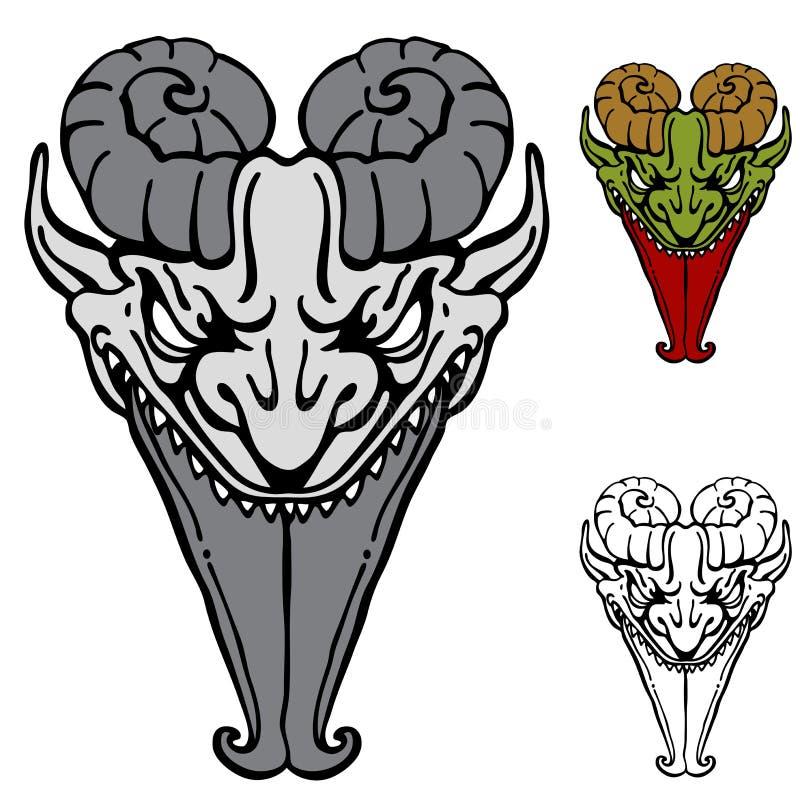Sharp Tongue Demon Royalty Free Stock Images