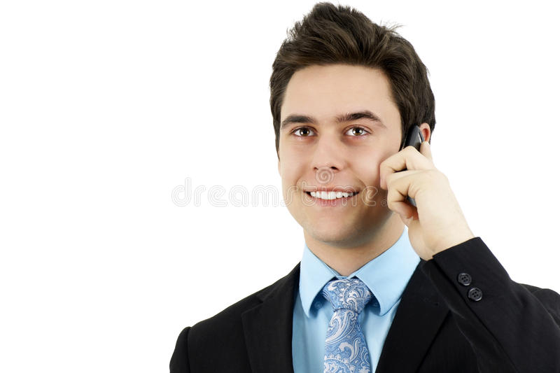 Download Sharp Young Man With Cell Phone Stock Photo - Image: 22192298
