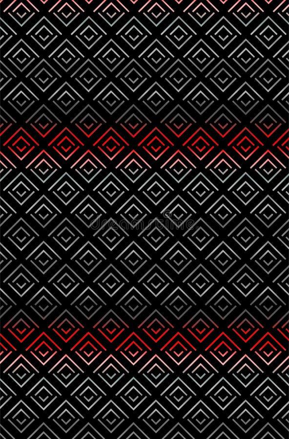 Sharp Zigzag rhombus texture pattern in gradation royalty free illustration