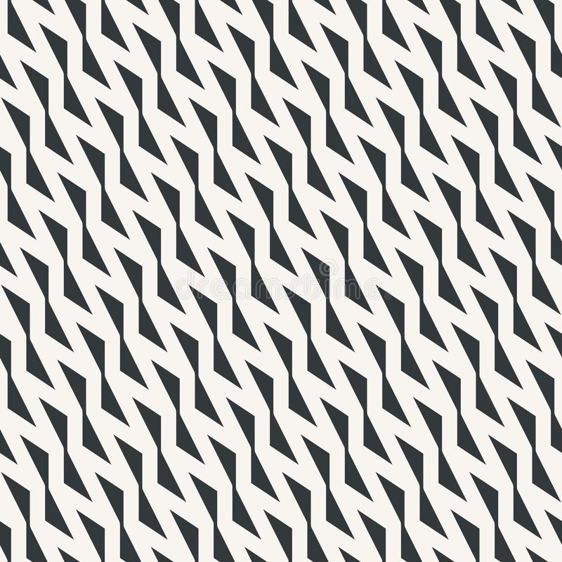 Sharp zigzag seamless abstract pattern monochrome or two colors stock illustration