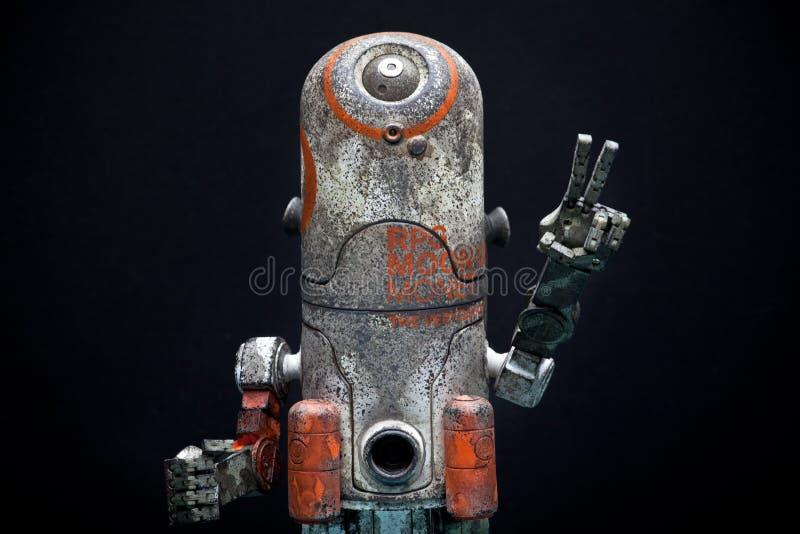 Sharped金属情感机器人演播室质量光 库存照片