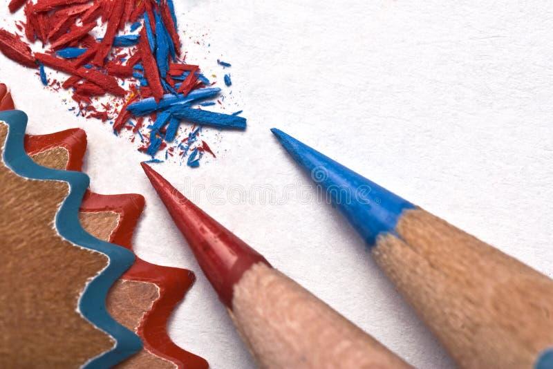 Sharpen os lápis foto de stock