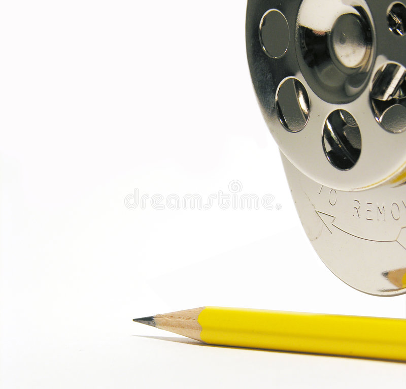 Sharpen Theme. A photo of a pencil sharpener and pencil with a sharpen theme royalty free stock photos