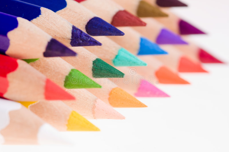Sharpened Colored Pencils royalty free stock image