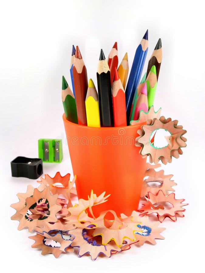 Free Sharpened Pencil And Wood Shavings Stock Images - 5003834