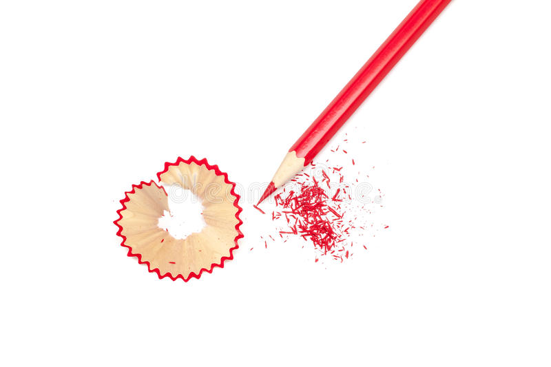 Sharpened pencil royalty free stock photography