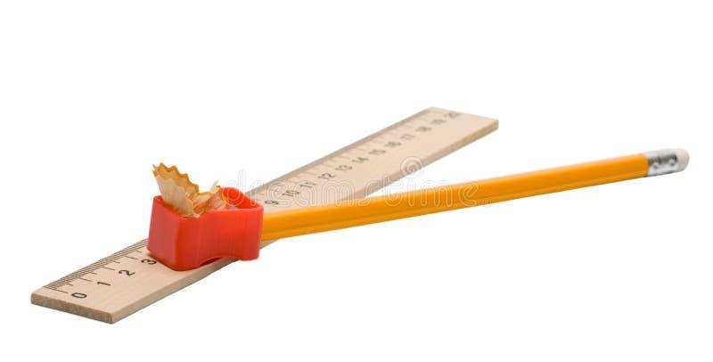 sharpener μολυβιών straightedge στοκ φωτογραφία με δικαίωμα ελεύθερης χρήσης