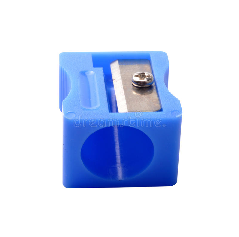 Sharpener. Pencil sharpener on isolated background stock photography