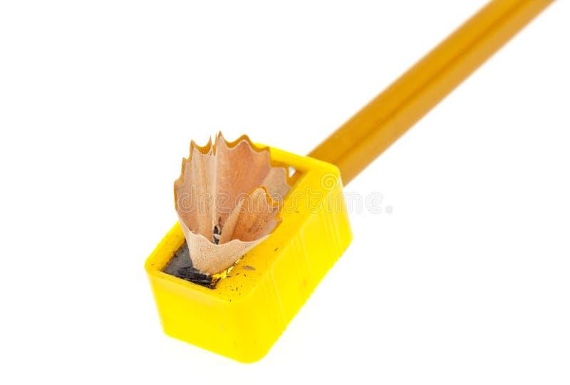 Sharpening um lápis imagem de stock royalty free