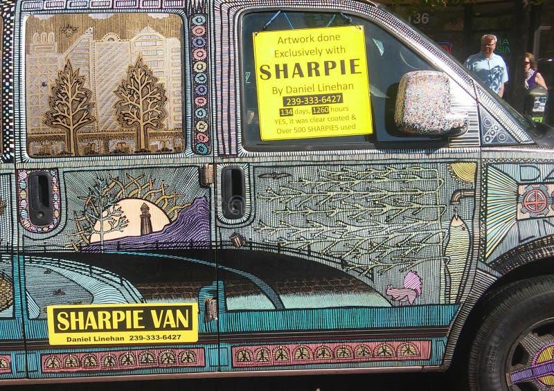 Sharpiebestelwagen royalty-vrije stock afbeelding