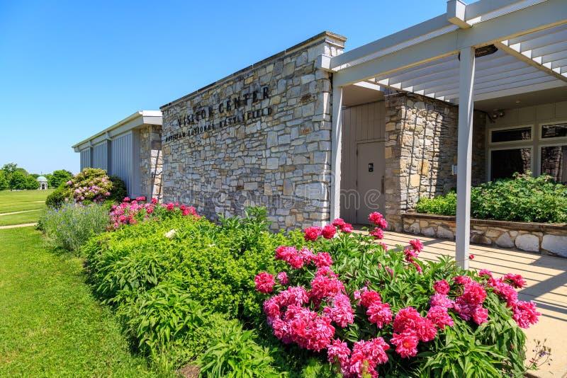 The Antietam National Battlefield Visitor Center. Sharpsburg, MD, USA - May 23, 2018: The National Park Service Antietam National Battlefield Visitor Center is stock photo