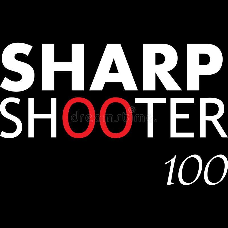 Sharpshooter typografii projekt dla wszystko ilustracja wektor
