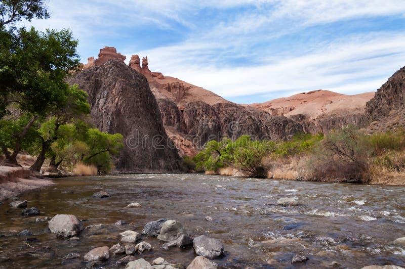Sharyn River kazakhstan arkivbilder
