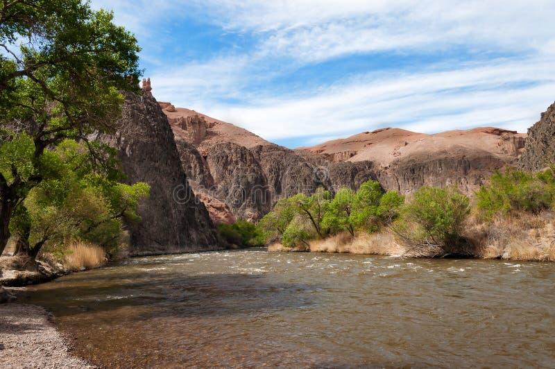 Sharyn River kazakhstan fotografering för bildbyråer