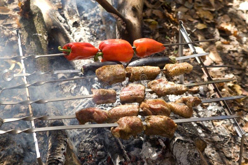Shashlik image stock image du poivre kebab nourriture for Cuisinier kebab