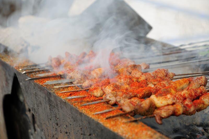 Shashlik da carne de carneiro fotografia de stock